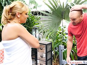 Sean Lawless finds steamy milf naked in the garden