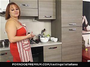 casting ALLA ITALIANA - Italian mature deep buttfuck bang