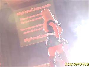 super-hot stepmom striptease on stage
