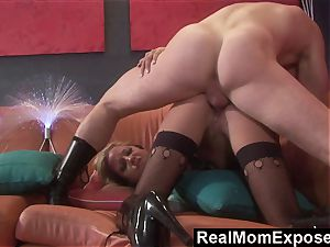 RealMomExposed horny cougar Gets tucked and