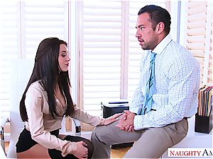 Office onanism session completes with sudden shagging