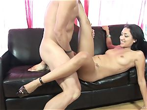 Scintillating Vicky pursue gets plastered with spunk