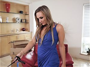 vag longing Evelin Stone tongues out domme Tucker Stevens